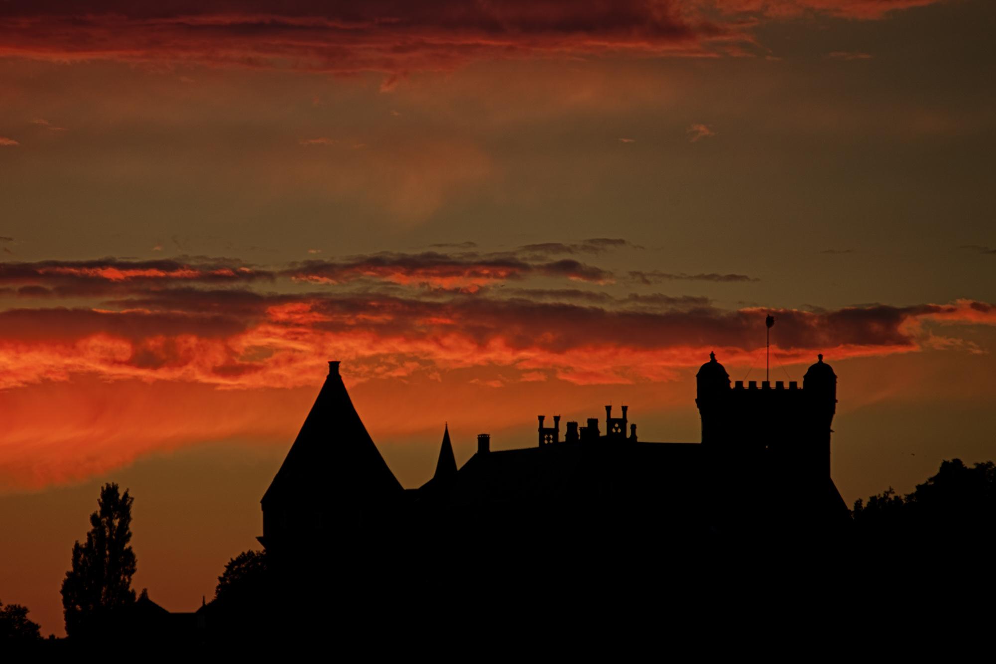 Avondrood over kasteel Bentheim