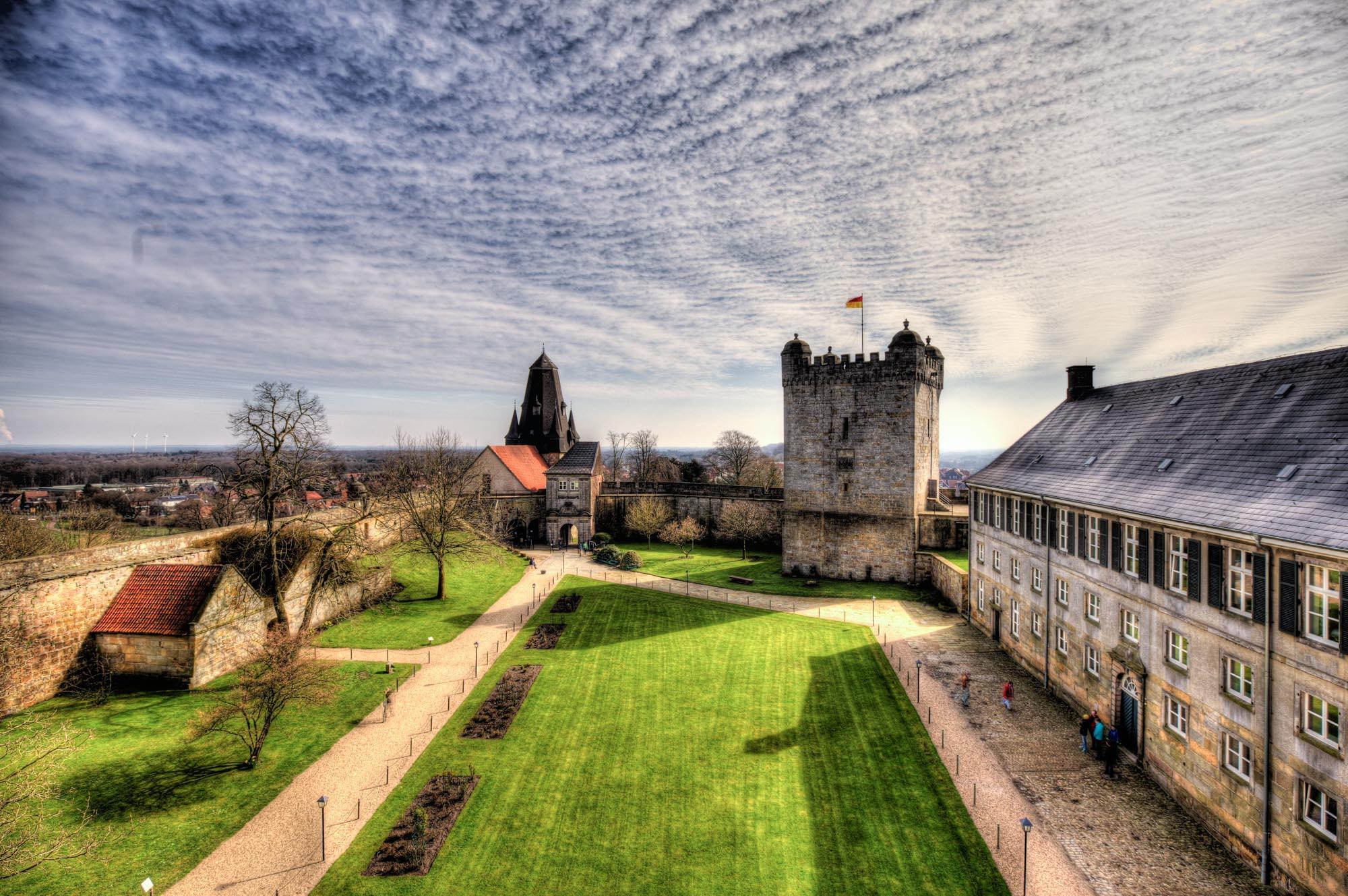Binnenplein van kasteel Bentheim