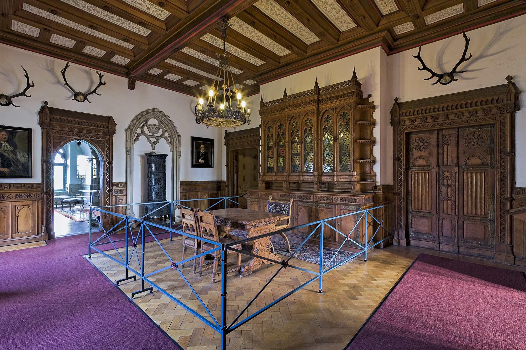 De bibliotheek binnen kasteel Bentheim ©burgbentheim.de