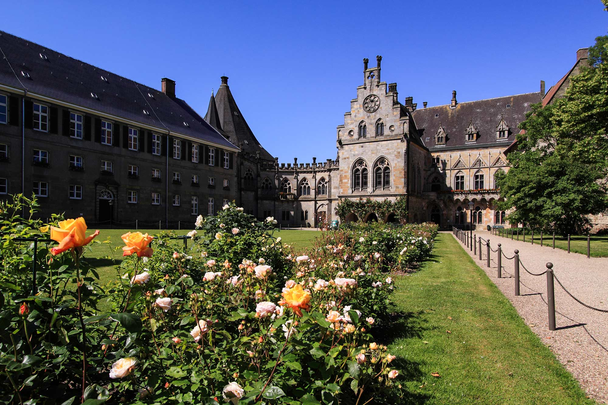 Binnenplein kasteel Bentheim © Thomas Wallmeyer