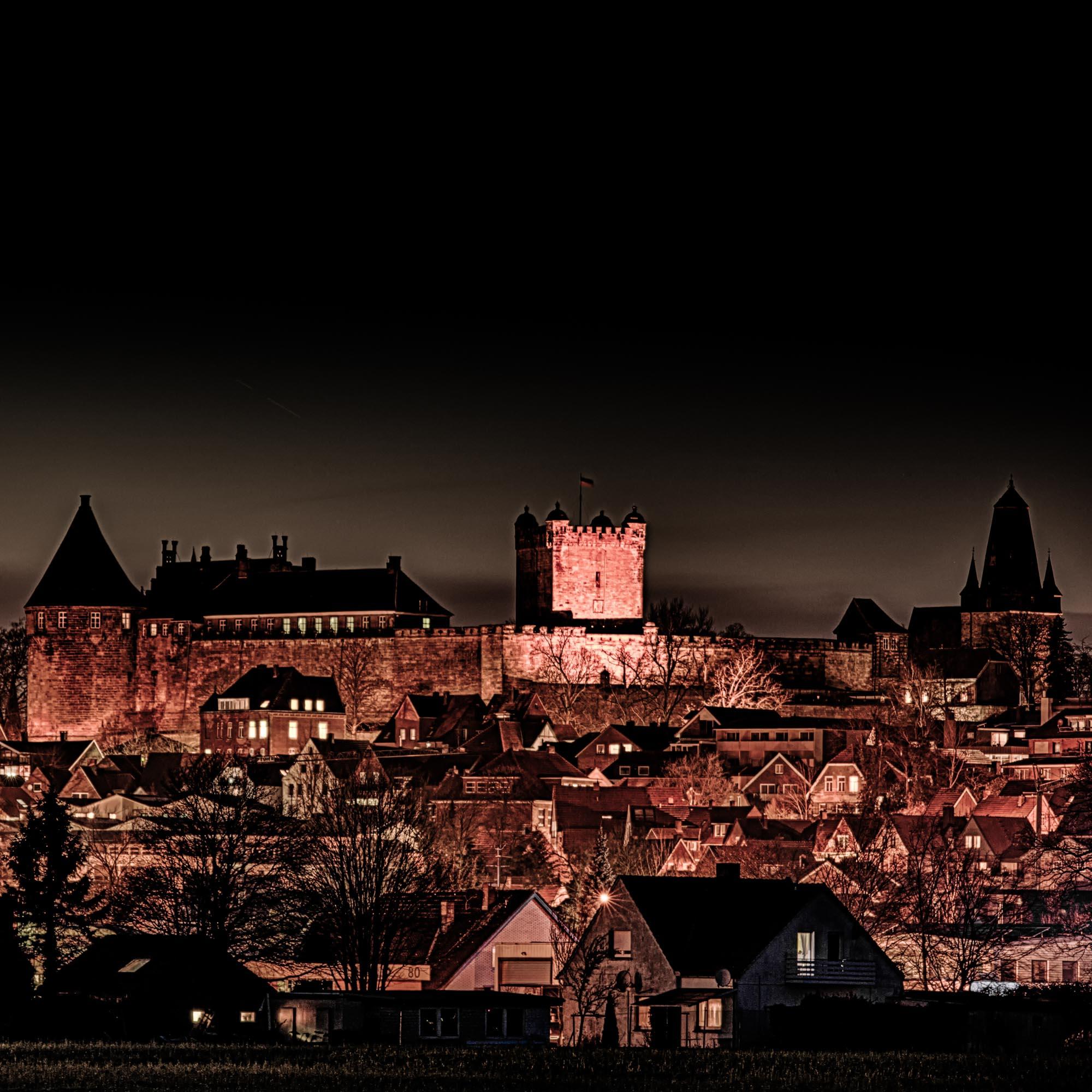Het kasteel bij nacht
