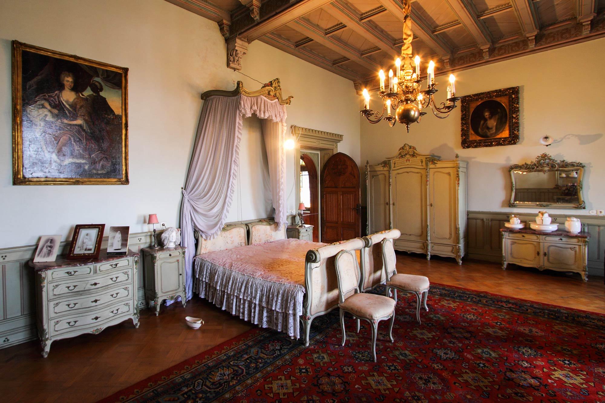 Slaapkamer binnen het kasteel ©Thomas Wallmeyer